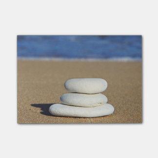 Zen Rocks on Beach Post-it Notes
