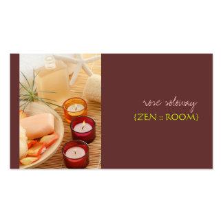 Zen room business cards