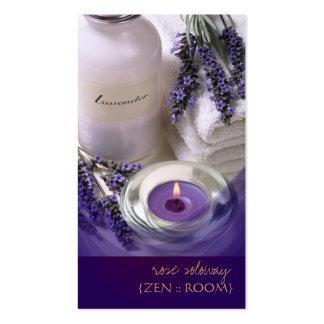 Zen room/Lavender/Violet business cards