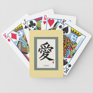 "Zen Scroll ""Love"" Bicycle Playing Cards"