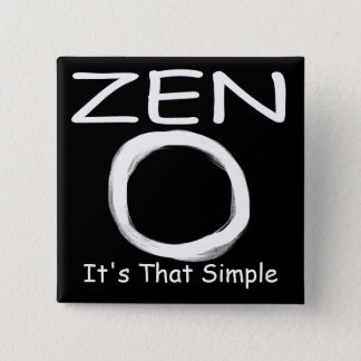 Zen Simplicity 15 Cm Square Badge