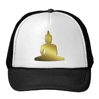 Zen Sitting Meditating Golden Buddha Cap