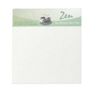 ZEN Stone Bamboo YOGA SPA Massage Beauty Salon Notepad