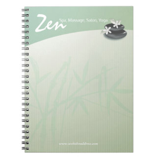 ZEN Stone Bamboo YOGA SPA Massage Therapy Salon Notebooks