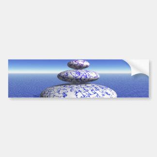 Zen Stone Blue Purple Ocean Love Peace Inspiration Bumper Sticker