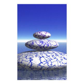 Zen Stone Blue Purple Ocean Love Peace Inspiration Personalised Stationery