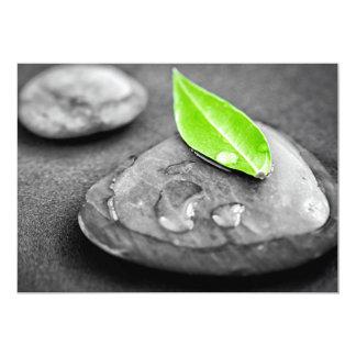 Zen stones 13 cm x 18 cm invitation card