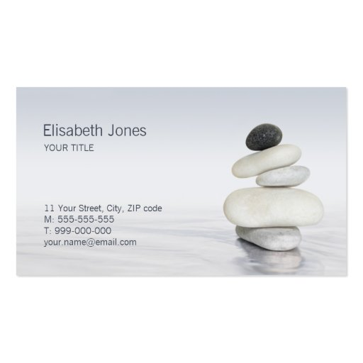 Collections of feng shui business cards zen stones balance business card colourmoves