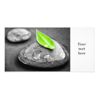 Zen stones customized photo card