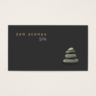 Zen Stones Holistic Healing Arts Wellness Business Card