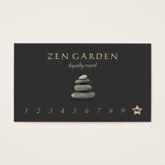 Zen Stones Massage Therapist Loyalty Punch Card