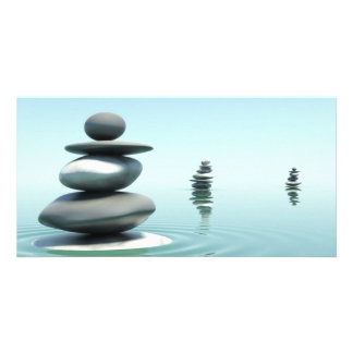 Zen Stones Midday Photo Greeting Card