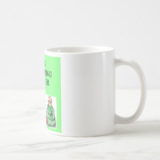 zen swimming master basic white mug