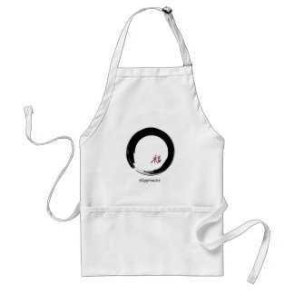 Zen Symbol with Happiness Character Standard Apron