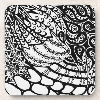 Zen Tangle Patterns Coaster