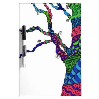 Zen Tree - dry erase board with patterned tree art