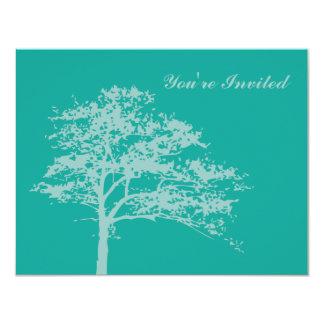 """Zen Tree Invitation 4.25"""" X 5.5"""" Invitation Card"""