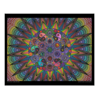 Zen Tree of Life - Chakra Explosion Poster