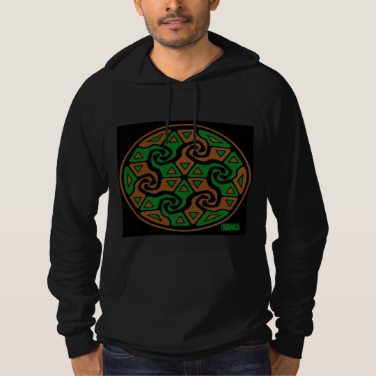 Zen Tri Arrows (burnt orange and green) Hoodie