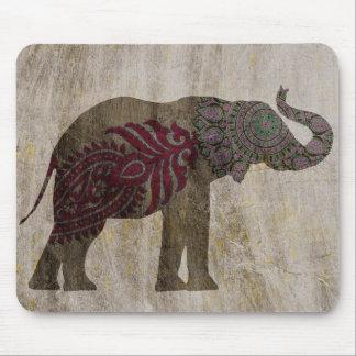 Zen Tribal Elephant Mouse Mat