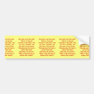 zen understanding bumper stickers