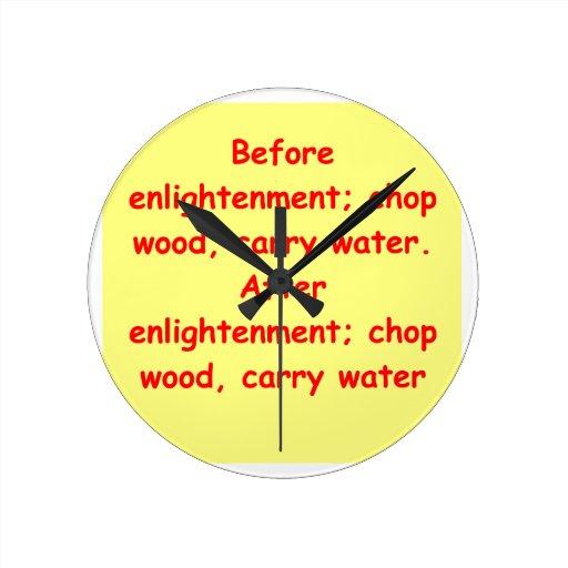 zen understanding round wall clocks