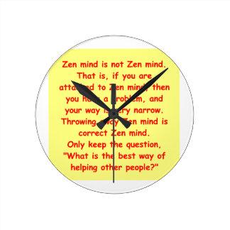 zen understanding round clock