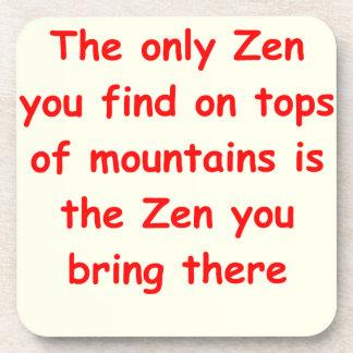 zen understanding coasters