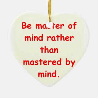 zen understanding ornament