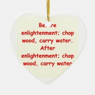 zen understanding christmas ornaments