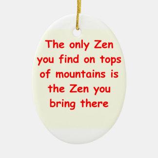zen understanding christmas ornament