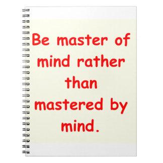 zen understanding notebook