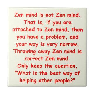zen understanding ceramic tile