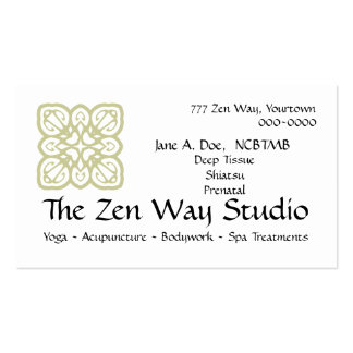 Zen Way Bodywork Card Pack Of Standard Business Cards