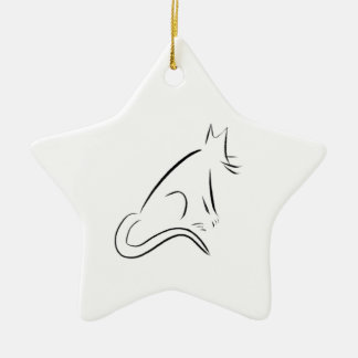 Zen White Cat Christmas Tree Ornament