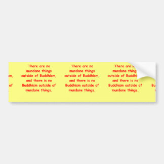 zen wisdom bumper sticker