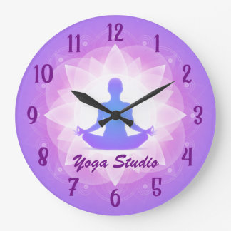 Zen Yoga Lotus Meditation Personalized Large Clock