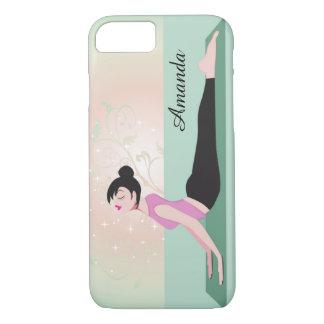 Zen Yoga Woman and Monogram Name iPhone 7 Case