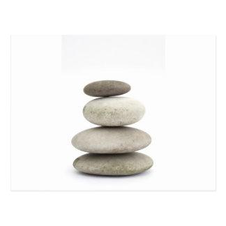 Zen yogo stones postcard