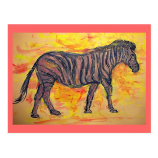 Zen Zebra peace on earth Postcard