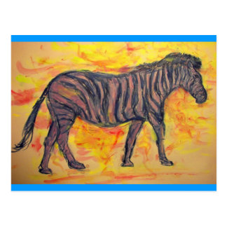 Zen Zebra Post Card