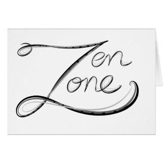 Zen Zone Greeting Card
