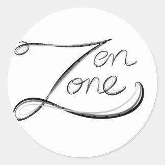Zen Zone Round Sticker