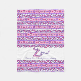Zena personalized Z name meaning kids blanket
