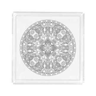 Zendala Design Acrylic Tray