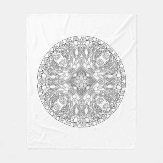 Zendala Design Fleece Blanket