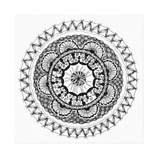 "Zendala ""Ona"" Wrapped Canvas Print Canvas Print"