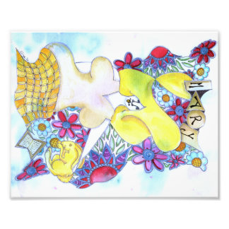 Zendoodle Art Mary Photo Print