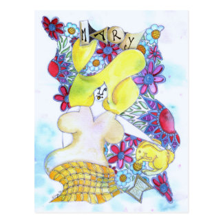 Zendoodle Art Mary Postcard