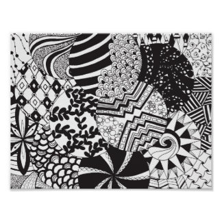 Zendoodle Circle Patterns | Poster